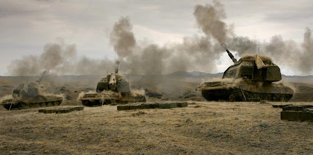 russian-artillery-units-use-high-precision-shells-against-militants-in-northern-syria