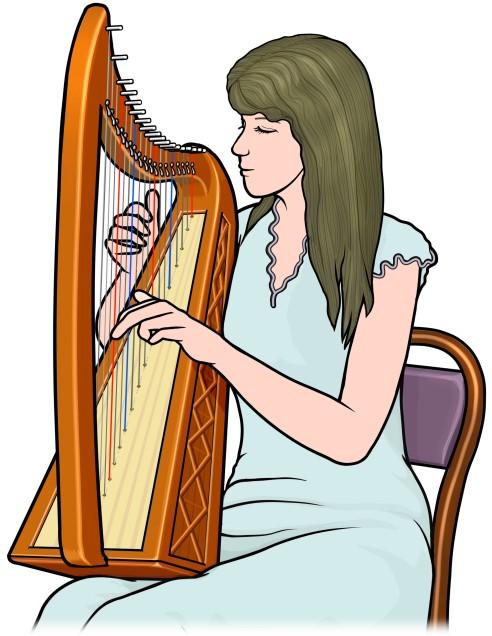 Celtic harp (Irish harp) ケルティックハープ アイリッシュハープ