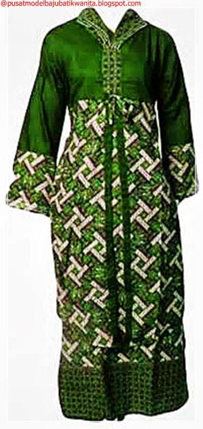Model Baju Batik Gamis Muslimah untuk Lebaran 2014 ...