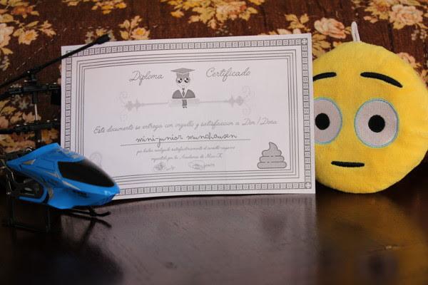 Diploma para Junior por su buen hacer