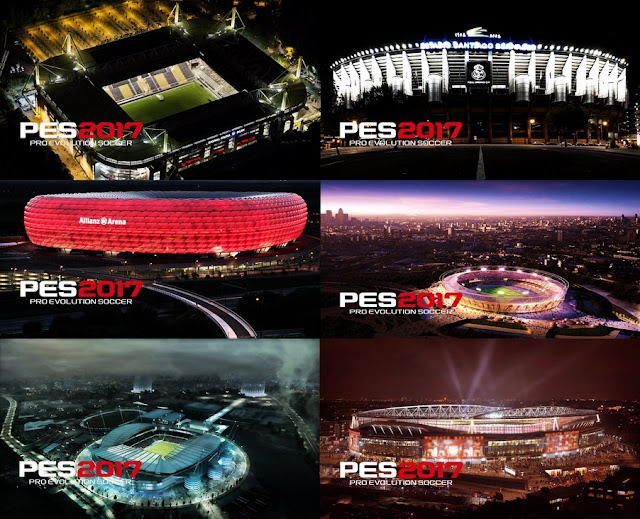 PES 2017 Stadiums Start Screens Vol. 1 By Hamada Zaghloul