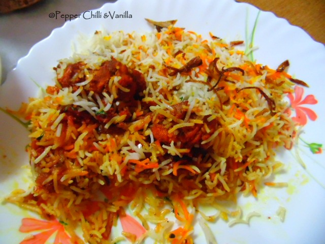 how to amke chicken tikka biryani
