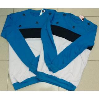 Sweater Bintang Biru