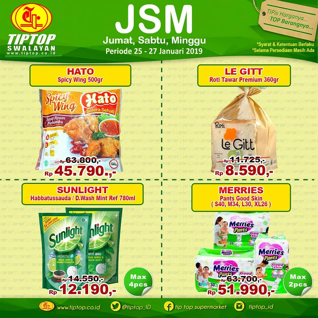 #TipTop - #Promo #Katalog JSM Periode 25 - 27 Januari 2019