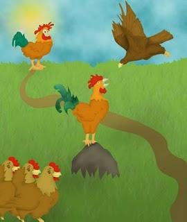 fabula el aguila y los gallos