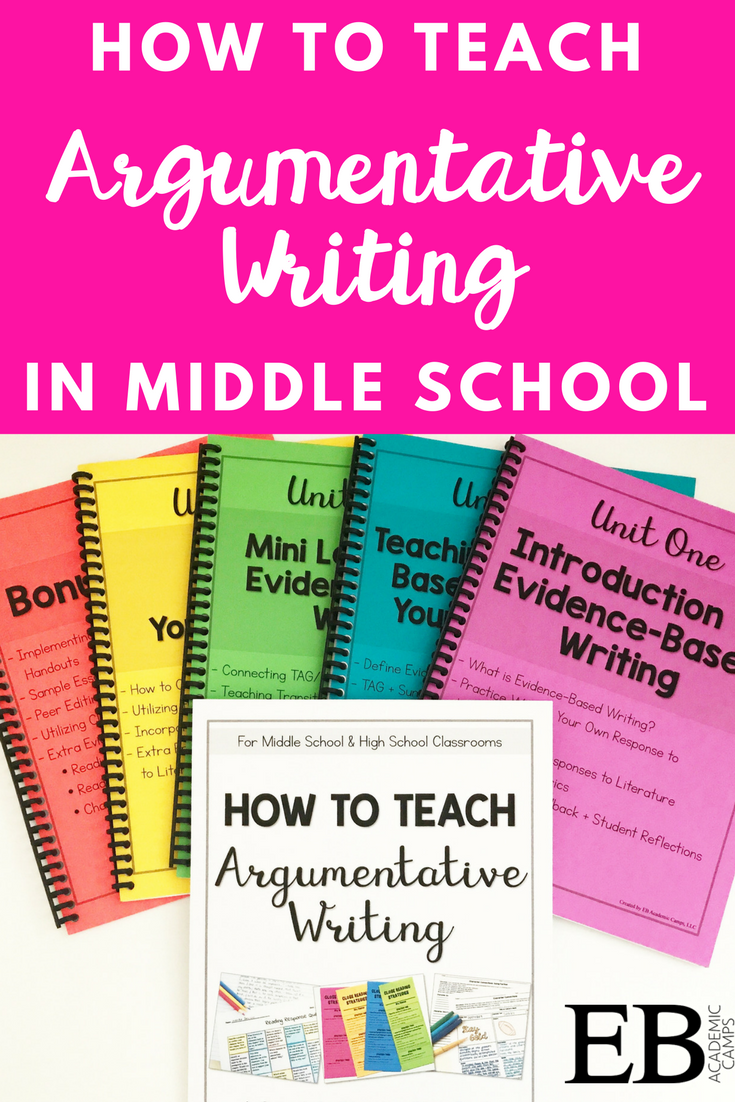 teaching argumentative essay middle school