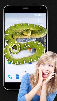 Snake on Screen Joke