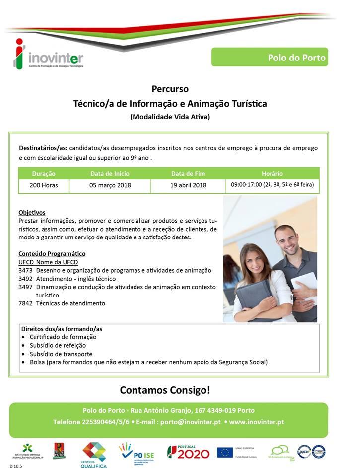 curso vida ativa para desempregados - Porto