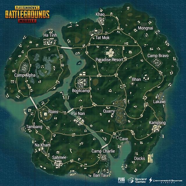 الأماكن المميزة على فى خرائط ببجى موبايل