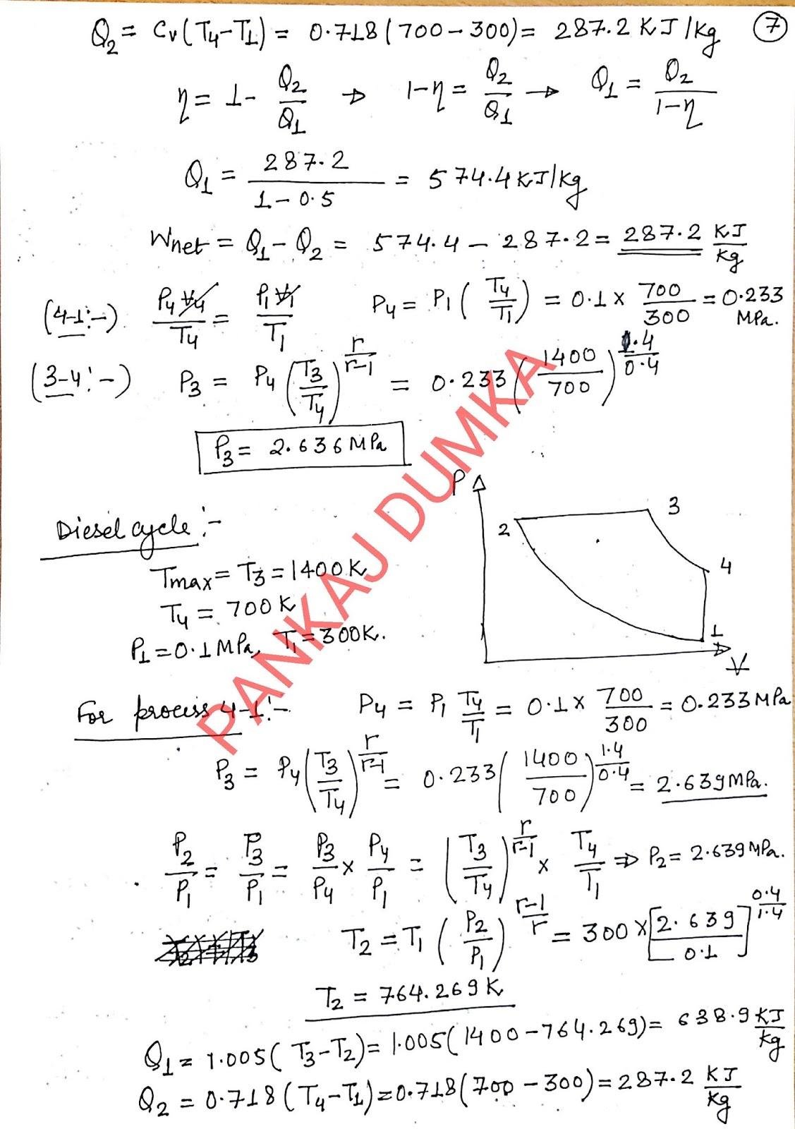 Solutions of p k Nag Engineering thermodynamics ( by Pankaj