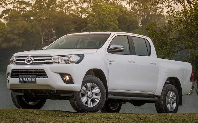 Toyota Hilux - 3º veículo mais vendido da América Latina - 2016