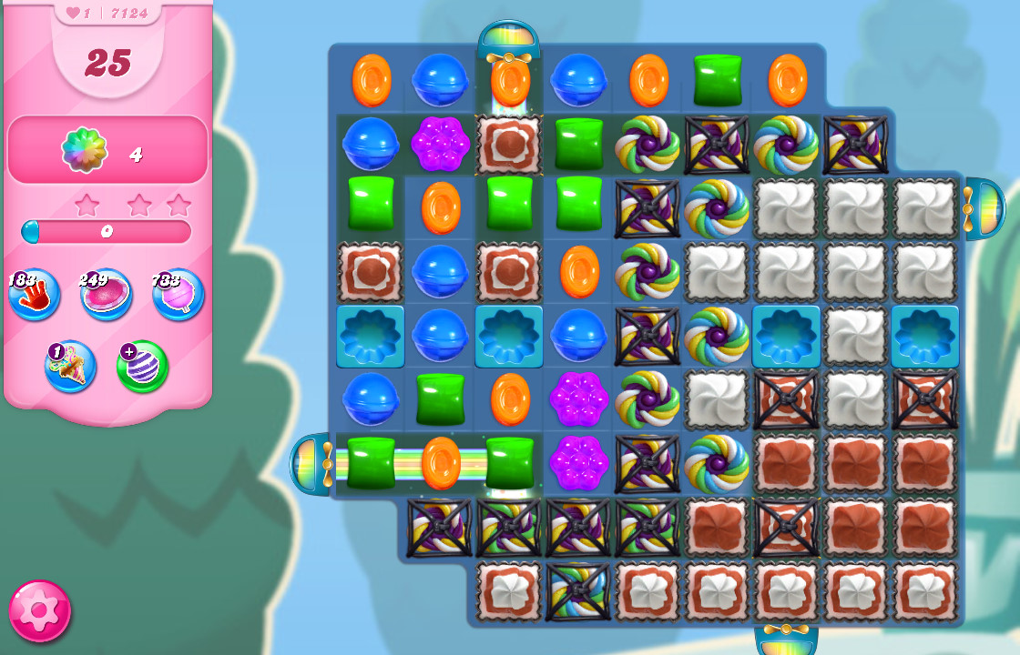 Candy Crush Saga level 7124