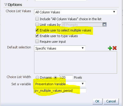 Vishal's blog: OBIEE 11G: Setting multiple values to Presentation