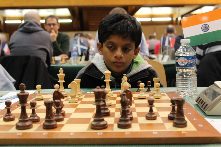 Sarin Nihal à l'Open de Cappelle 2016 - Photo © Chess & Strategy