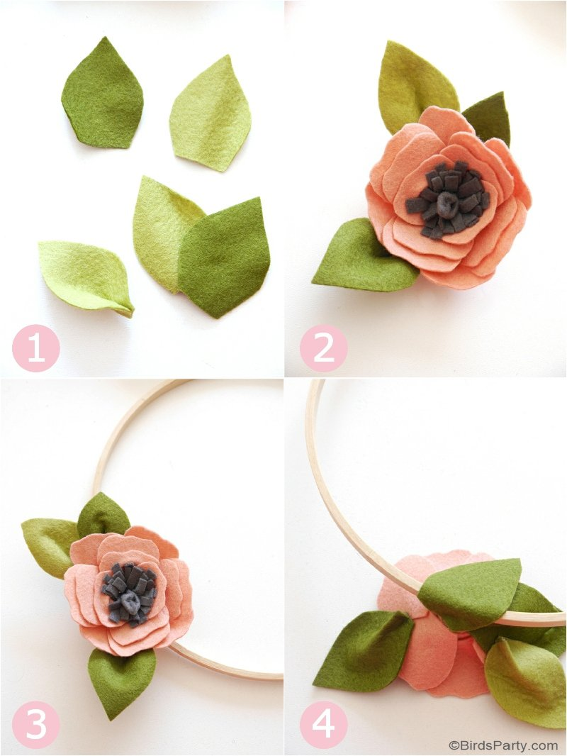 Diy Felt Flower Wreath For Fall Party Ideas Party