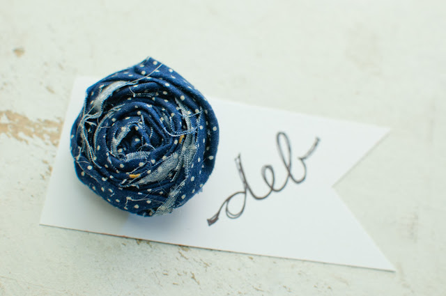 Rolled Fabric Flower Pin