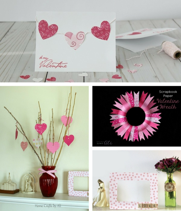 DIY Valentine crafts and decor on Home Crafts by Ali