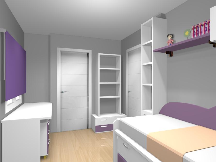 Al igual que el dormitorio anterior se puede hacer tanto - Diseno de dormitorios para jovenes ...