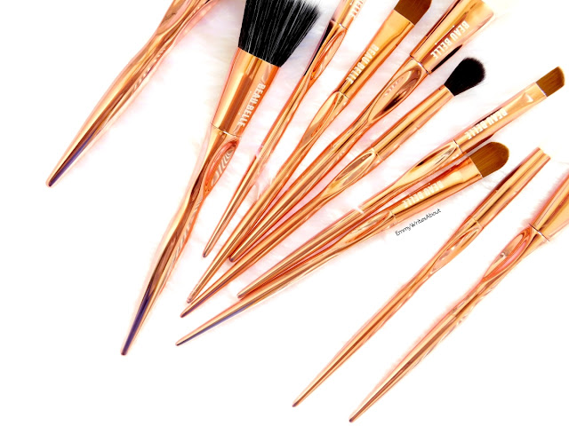 Beau Belle Rose Gold Makeup Brushes