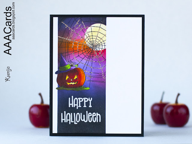 Moonlit Copic Colored Halloween Card