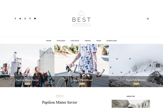 Best – Responsive Clean Blogger Template