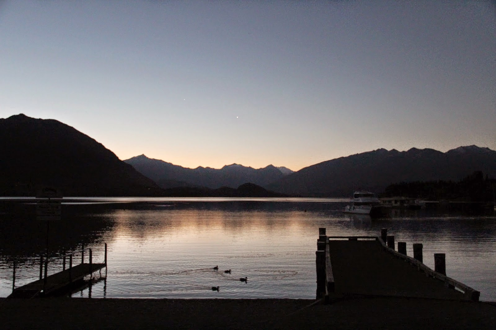 Lake Wanaka New Zealand Twilight