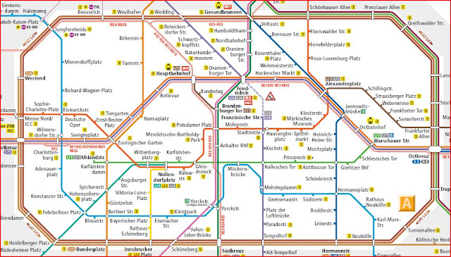 Map Berlin Metro (Centre)