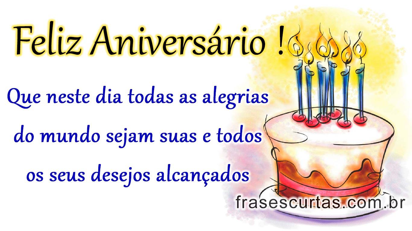 Frases De Parabéns E Feliz Aniversário Frases Curtas