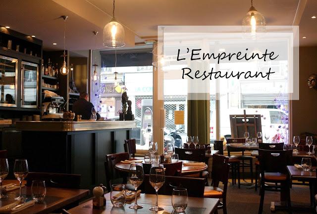 L'Empreinte Restaurant Paris 14ème