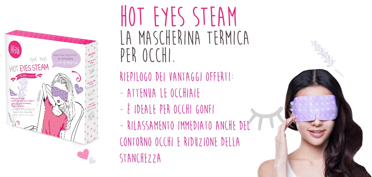 Maschera termica occhi Hot Eyes Steam #cosmoprof50