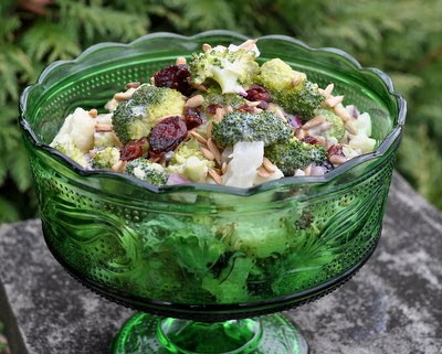 Healthy Holiday Broccoli & Cauliflower Salad