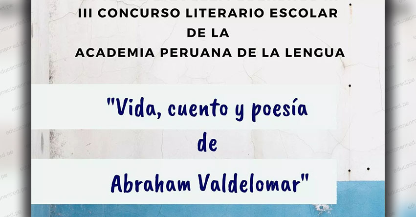 Academia Peruana de la Lengua organiza concurso para escolares de secundaria del país