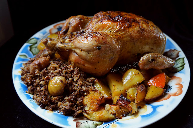 Christmas Chicken with Minced Meat Stuffing