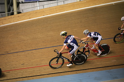Madison of Melbourne track cycling race in Australia