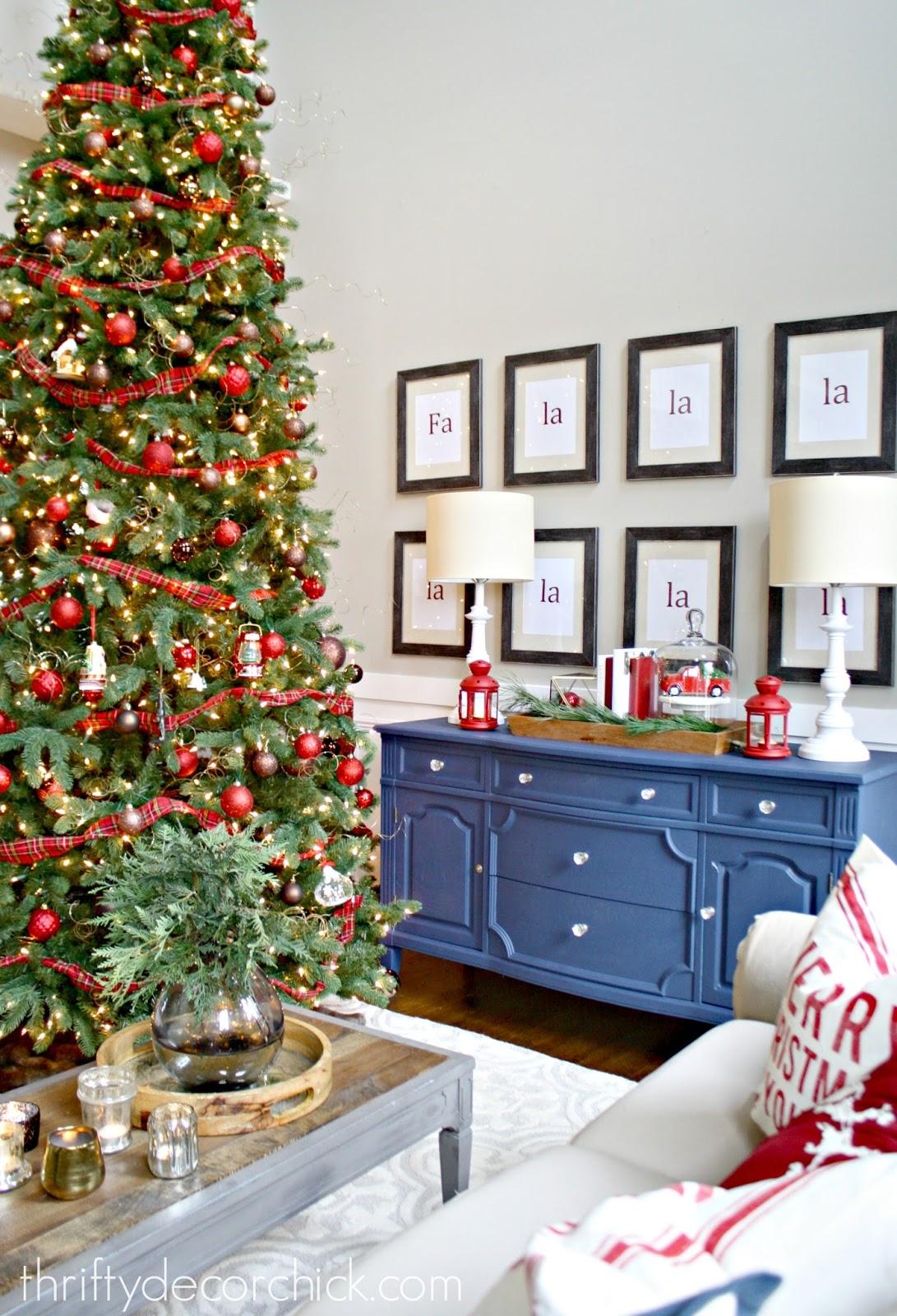 Decorate the christmas tree fa la la la - Fa La La La La Prints In Frames