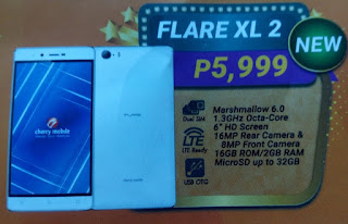 Cherry Mobile Flare XL 2, 6-inch Octa Core LTE Marshmallow for Php5,999