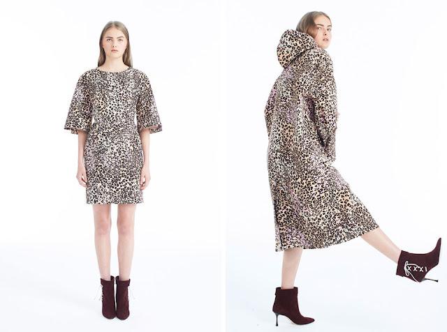 Минималистское платье и пальто с леопардовым принтом