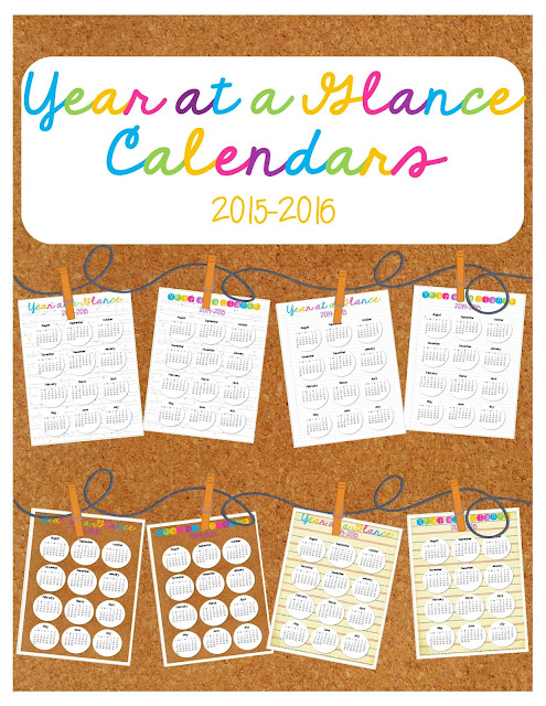 https://www.teacherspayteachers.com/Product/Year-at-a-Glance-Calendars-2016-17-756244