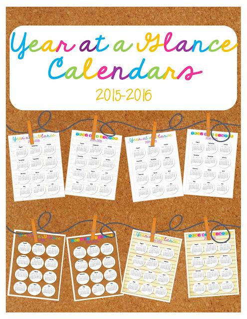 https://www.teacherspayteachers.com/Product/Year-at-a-Glance-Calendars-2016-17-756244