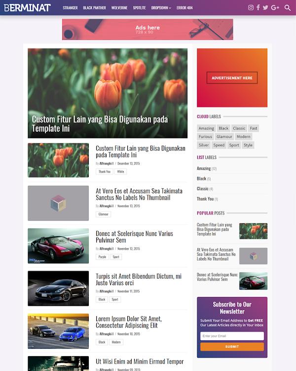 Berminat v2.0 Premium Blogger Template