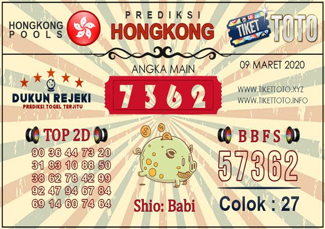 Prediksi Togel HONGKONG TIKETTOTO 09 MARET 2020