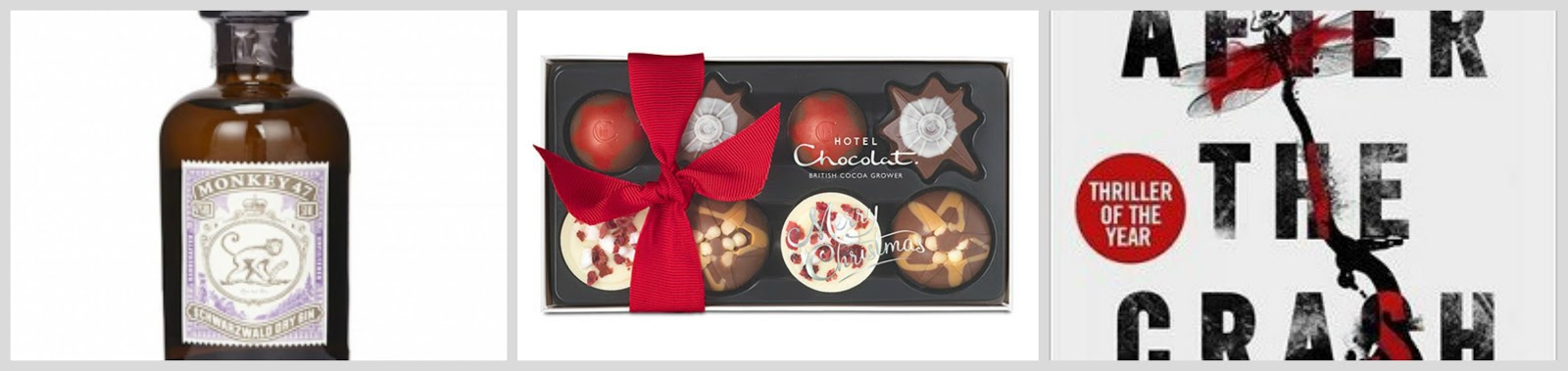 christmas gift guide for her stocking fillers monkey 47 gin miniature hotel chocolat christmas selection after the crash michel bussi