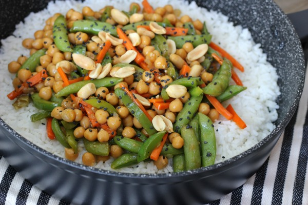 Chickpea Vegetarian Stir-Fry