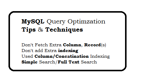 MySQL Query Optimization Tips and Techniques