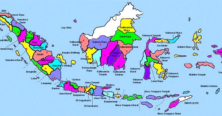 Peta adalah gambar yang menunjukkan kondisi geografis permukaan bumi yang diwakilkan dengan beberapa simbol dan warna. Gambar Peta Indonesia Warna