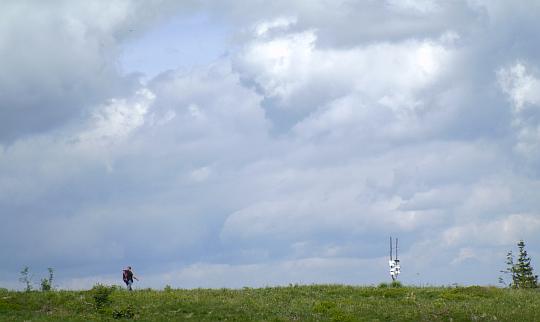 Rozstaj szlaków na Kucałowej Przełęczy.