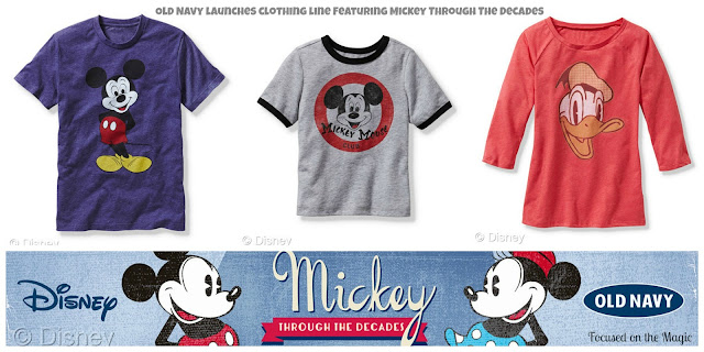 "Old Navy Launches ""Mickey Through the Decades"" Vintage Tee Collection"