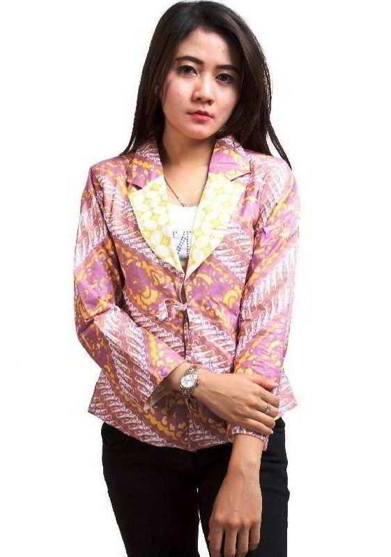 33 Model Baju Batik Kantor Pria Wanita Modis Modern Dan Trendi