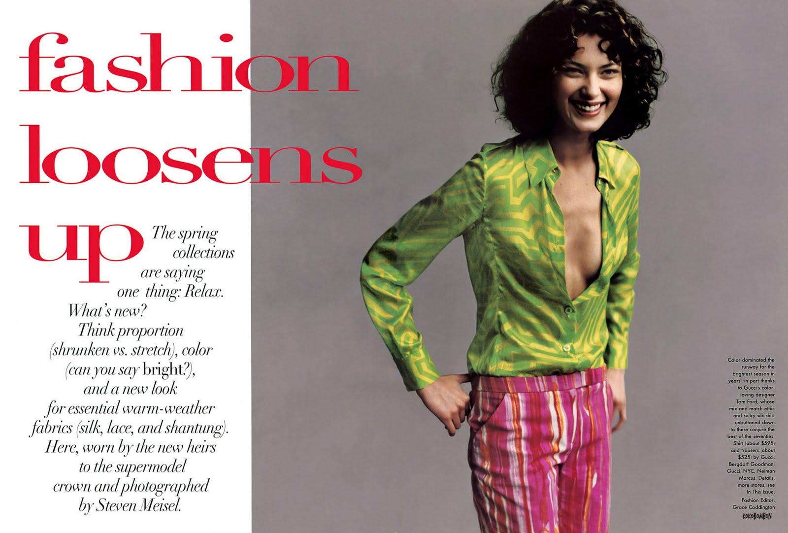 La Vie En Pose: Vogue US January 1996
