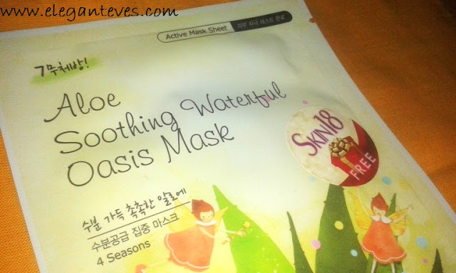 Review of Skin 18.com's  Aloe Soothing Waterful Oasis Mask